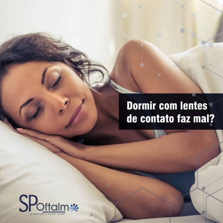 Dormir com lentes de contato faz mal?