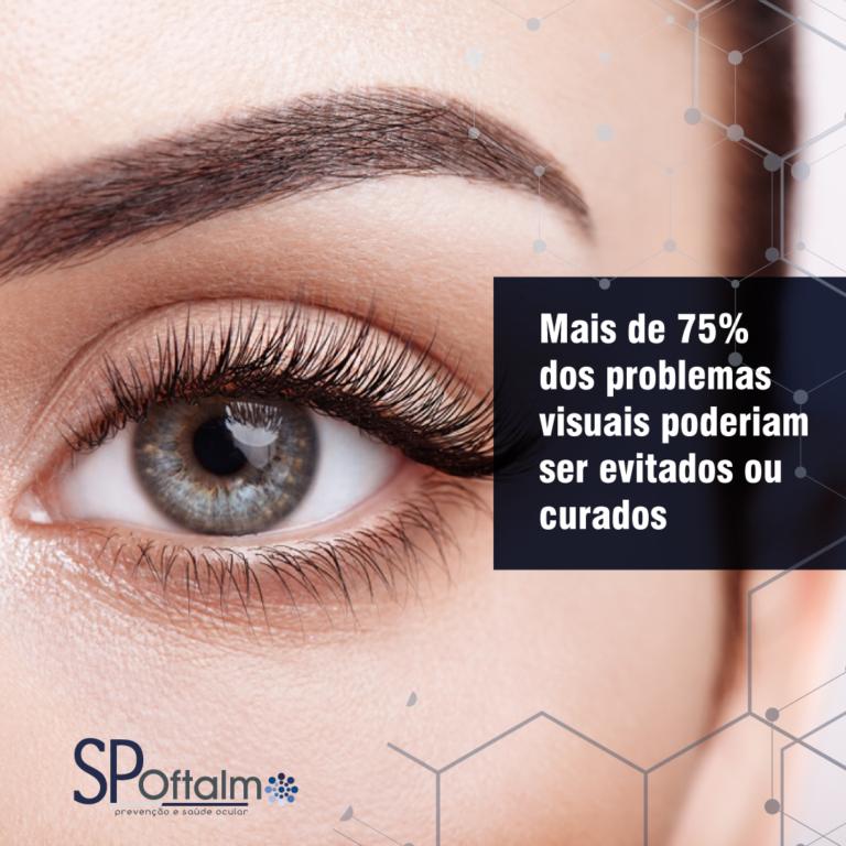 Mais de 75% dos problemas oculares poderiam ser evitados ou curados