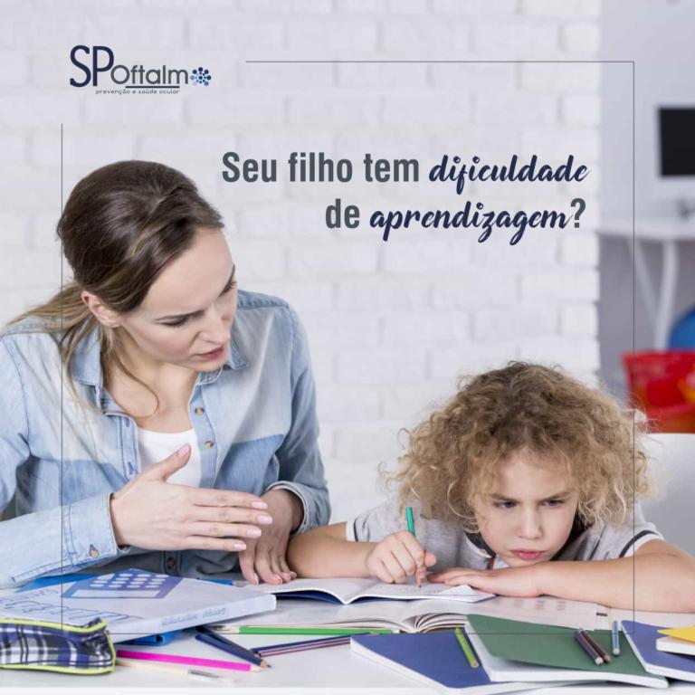 Seu filho tem dificuldade de aprendizagem?